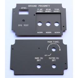 B737 Control de brillo de pantallas DBC (copiloto) y GPWS