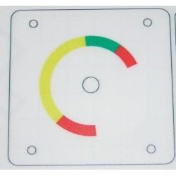 Sticker for brake pressure gauge