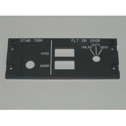 B737 Panel de trimado de estabilizador