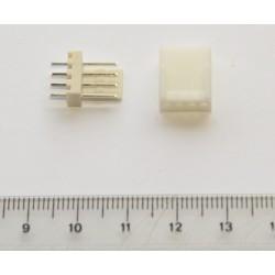 Conector recto polarizado (4-pin)