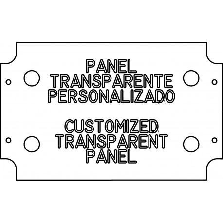 Not painted transparent panel (espesor 5 mm)