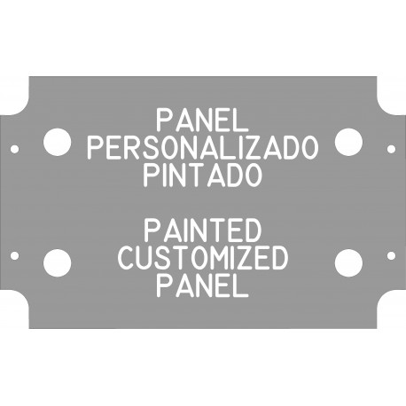 Transparent painted panel (thickness 2 mm)