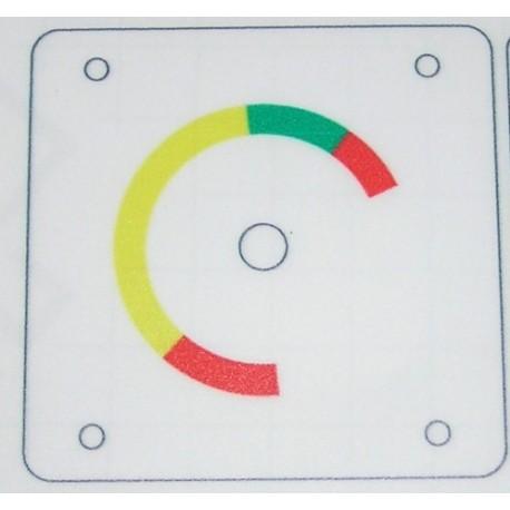 Pegatina para instrumento de presión de frenos