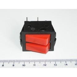 Interruptor basculante (doble)