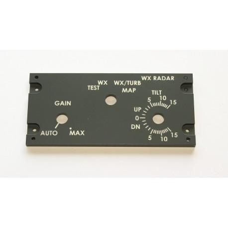B737 Panel radar meteorológico