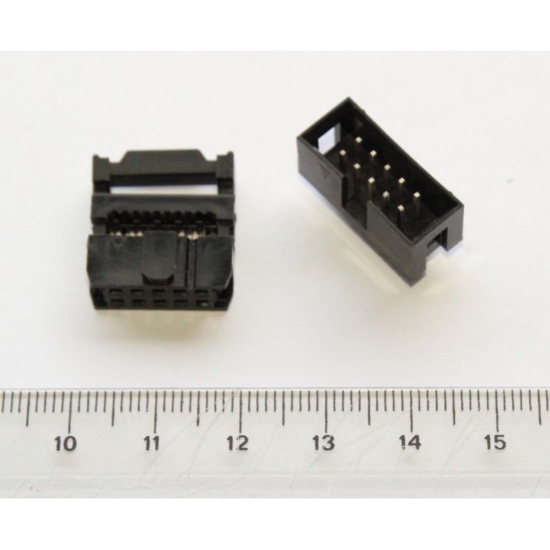 Idc Connector For Flat Cable 10 Pins Hispapanels